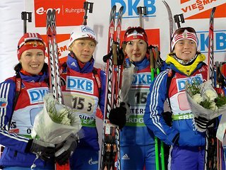 Россиянки взяли серебро в эстафете