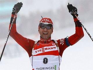 Уле Эйнар Бьорндален победил в гонке с общего старта