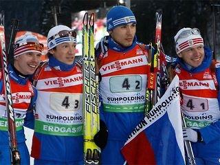 Россияне одержали первую победу в эстафете!
