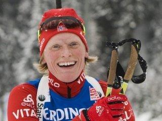 Тура Бергер выиграла золотую медаль в гонке преследования