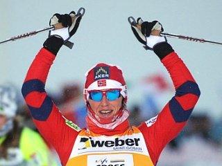 Марит Бьорген - сильнейшая в спринте на Чемпионате мира в Хольменколлене