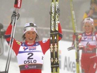Марит Бьорген - трехкратная чемпионка мира