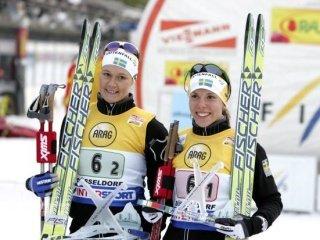 Шведские лыжницы праздновали победу в командном спринте у женщин. Россиянки - десятые