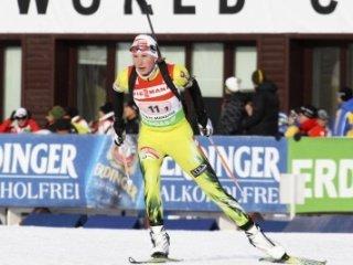 Анастасия Кузьмина выиграла золотую медаль в гонке преследования