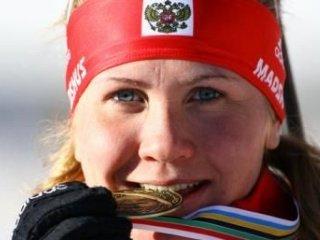 Наталья Гусева победила в женском спринте на Чемпионате России по биатлону