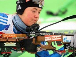 Екатерина Юрлова выиграла золотую медаль в гонке преследования на Чемпионате России по биатлону