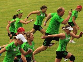 Российские биатлонистки завершили третий предсезонный сбор
