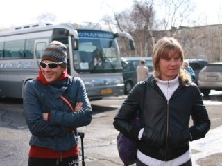 Ольга Зайцева и Яна Романова встретились с болельщиками