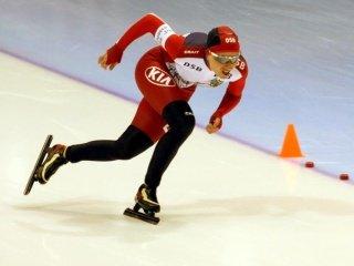 Алексей Есин и Светлана Кайкан - чемпионы России по конькам на дистанции 500 метров