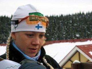 Кайса Макаряйнен выиграла спринт на этапе Кубка IBU