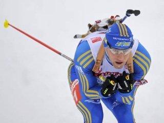 Шведский биатлонист Карл-Йохан Бергман выиграл спринтерскую гонку в Остерсунде