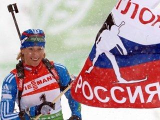 Ольга Зайцева выиграла женскую гонку преследования на третьем этапе Кубка мира