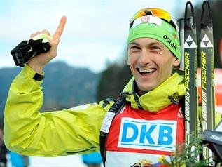 Словенец Яков Фак выиграл мужскую индивидуальную гонку на чемпионате мира в Рупольдинге