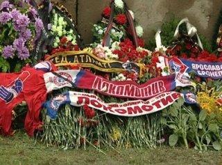 Сборная России по хоккею отдала дань памяти погибшим игрокам
