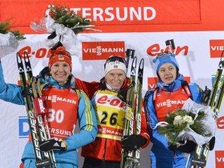 Тура Бергер выиграла золото в спринте, Вилухина - третья