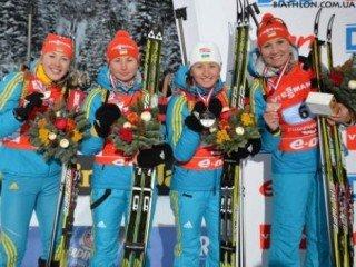 Женская сборная Украины по биатлону выиграла эстафету в Оберхофе, россиянки финишировали пятыми