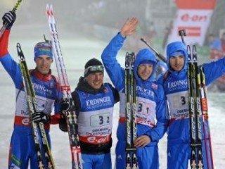 Мужская сборная России победила в эстафетной гонке в Оберхофе